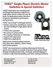 TORQ™ Single Phase electric Motor Switches & Speed Switches